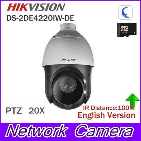 In stock Hikvision Original English 2MP PTZ DS-2DE4220IW-DE PTZ IP camera CCTV security Surveillance POE ONVIF POE CCTV Camera protective silicone case for nds lite translucent white