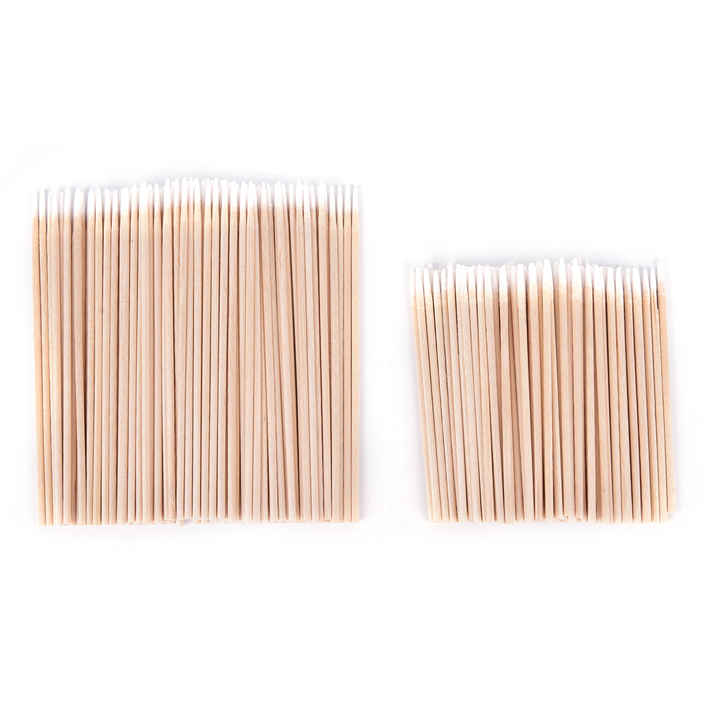 100 Pcs Cotton Swab Health Makeup Cosmetics Ear Clean Cotton Swab Stick Buds Tip For Medical 7.5cm/10cm Wood Cotton Head Swab