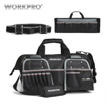 "WORKPRO 18"" Tool Bags Belt Tool Pouch 1680D Close-top Wide-Mouth Storage Bag Waterproof Bags Large Capacity Bags(China)"