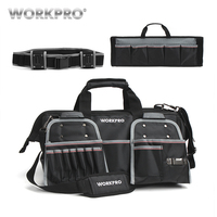 WORKPRO 18 Tool Bags Belt Tool Pouch 1680D Close Top Wide Mouth Storage Bag Waterproof Bags