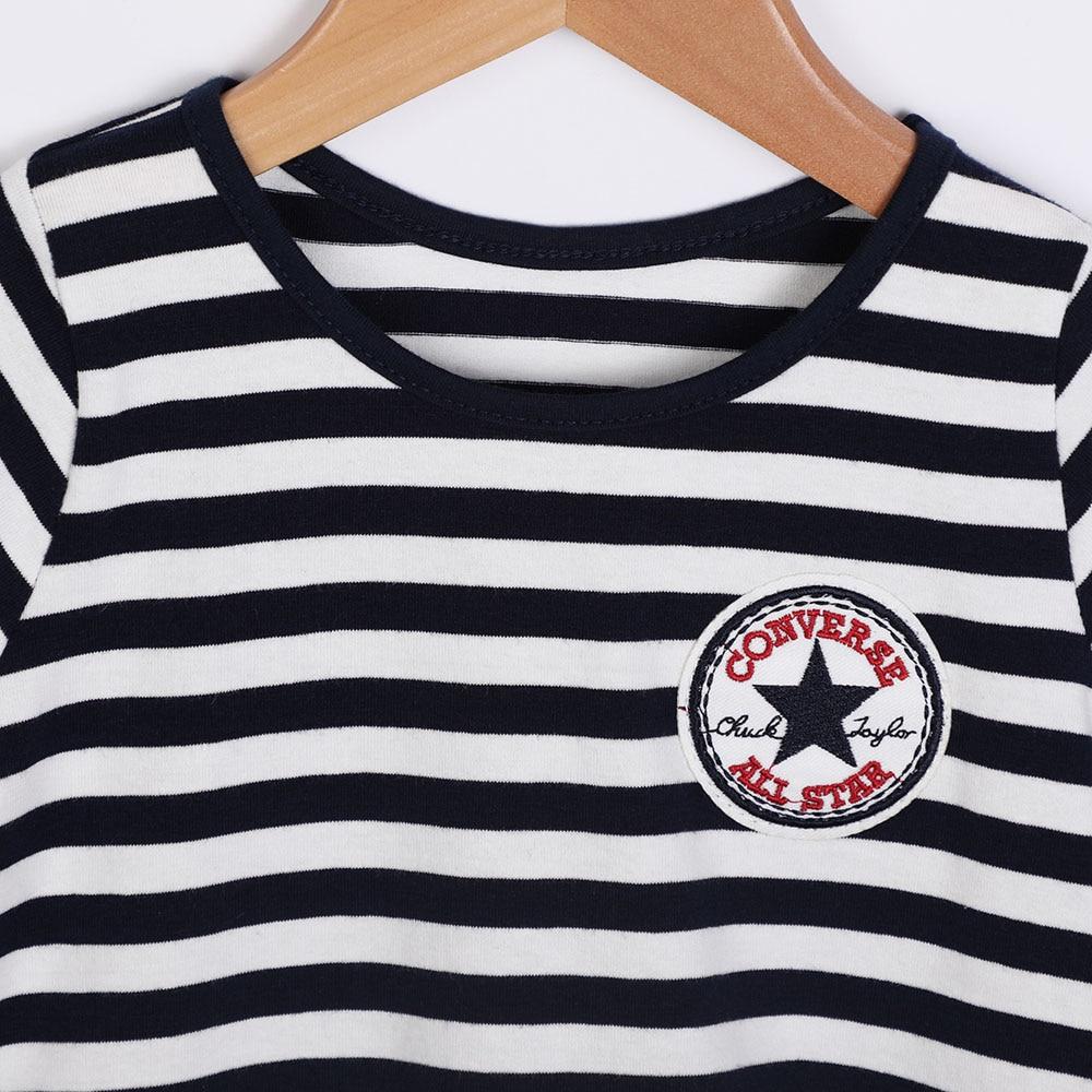 baby girl letnie ubrania 2018 new children stripe Short sleeve - Ubrania dziecięce - Zdjęcie 3