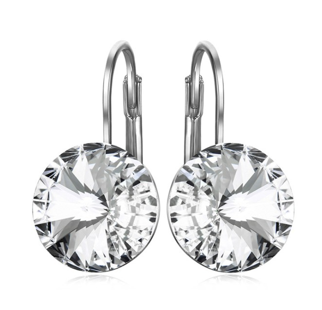 NEW SALE 925 silver 6Color Original Crystals From Swarovski Bella Mini Piercing Fashion jewelry Stud Earrings