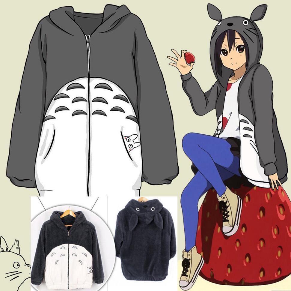 Anime Girl In Hoodie: Men Women Anime My Neighbor Totoro Hoodie Coat Cosplay