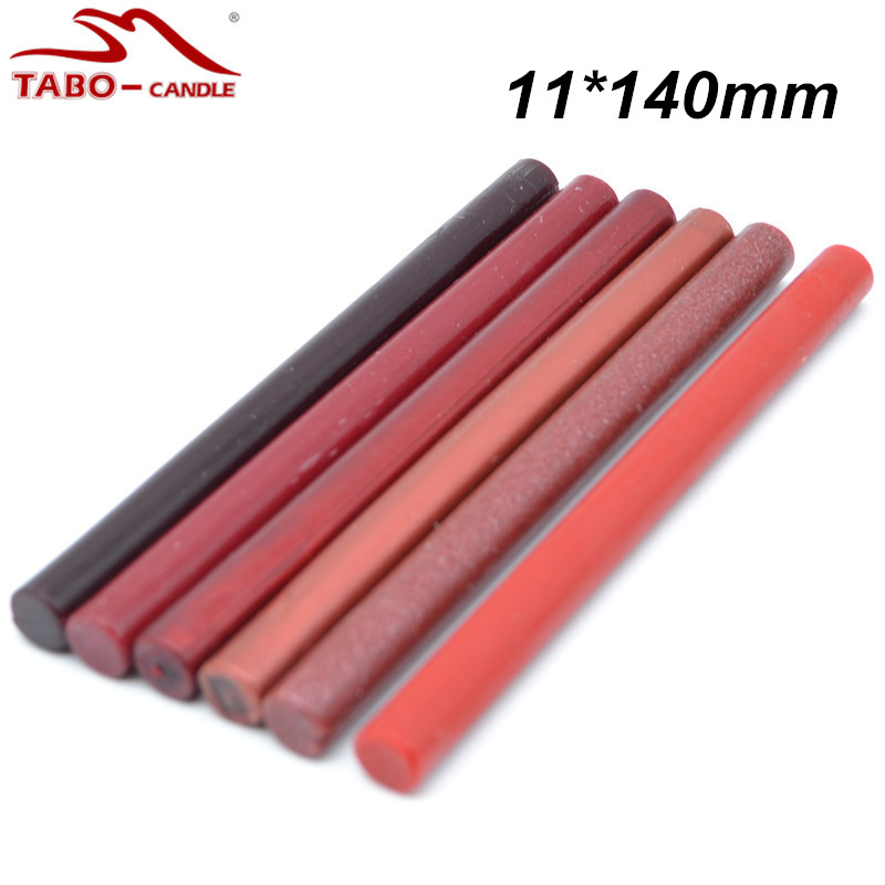 10 Pcs 11*140mm Christmas Promotion Classic Wine Red Sealing Wax Stick for Traditional Postal Envelope Letter Decoration classic red gold white sealing wax stick 16 pcs box with 20w hot glue gun for diy envelope decoration