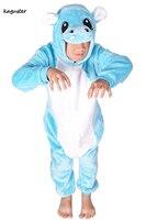 Kid S Unisex Hallowen Party Hippo Jumpsuit Pyjamas Flannel Pajama Animal Cosplays Onsie Onesie Charmander Kugurumi