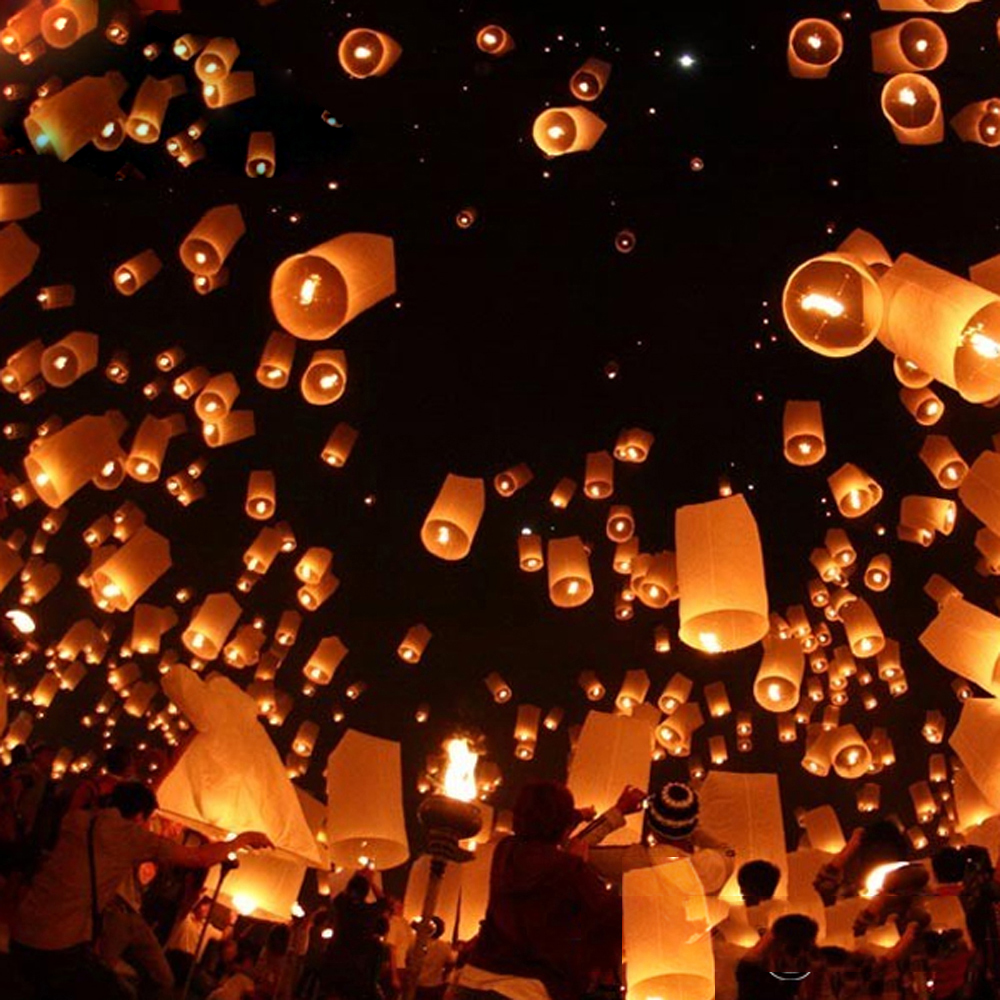 SKY Balloon Kongming Wishing Lanterns Flying Light Christmas Lights ...
