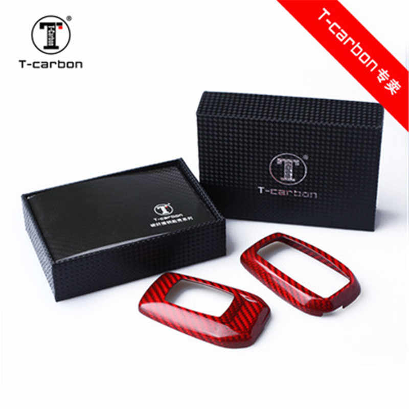 Accessoires de voiture 100% véritable étui de clé de voiture en Fiber de carbone pour Toyota Alphard RAV4 PREVIA couvre-clé de voiture