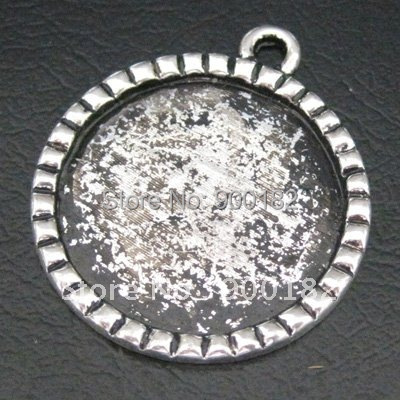 1 Inch Cameo Setting Antique Silver Bottle Cap Setting 1 inch Pendant Blank 1 inch Pendant