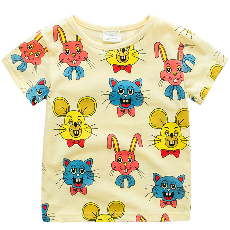 Niños Camisetas para niñas Verano Unisex Conejo de dibujos animados - Ropa de ninos