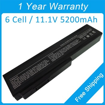 Batería del ordenador portátil de 6 células para asus N53 N52A N52D N52F N52J N52S N52V N53D N53E N53F N53J N53N N53S A33-M50 a32-X64 envío gratis