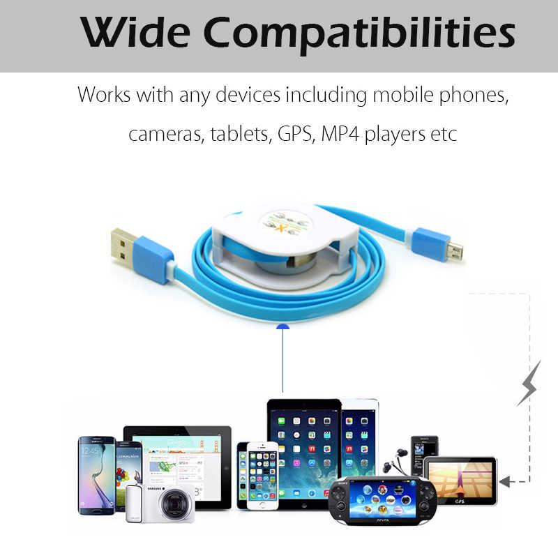 1 м/2 м/3 м длина Micro USB Выдвижной кабель для зарядки для Samsung Galaxy A3/A5/A7 2016 A6/A8 Xiaomi Redmi Note 5/S2 кабель для зарядного устройства