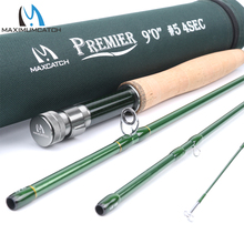 Maximumcatch Premier 3/4/5/6/7/8/9/10/12 WT Fly Rod Carbon Fiber Fly Fishing Rod With Cordura Tube Fly Fishing Rod