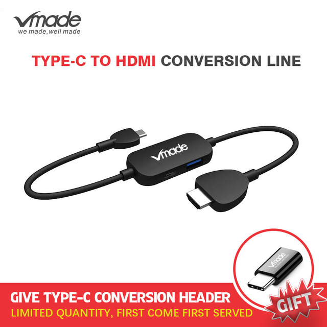 Vmade Hot Sale USB C 3.0 HUB Type C to HDMI Converter Dex Mode for MacBook 2016/Huawei Matebook/Samsung S8 Type C USB C Adapter