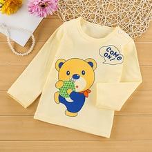 2018 새로운 아기 소년과 소녀 옷 만화 긴 소매 티셔츠 아이 의류 티 셔츠 면화 품질 아동 의류