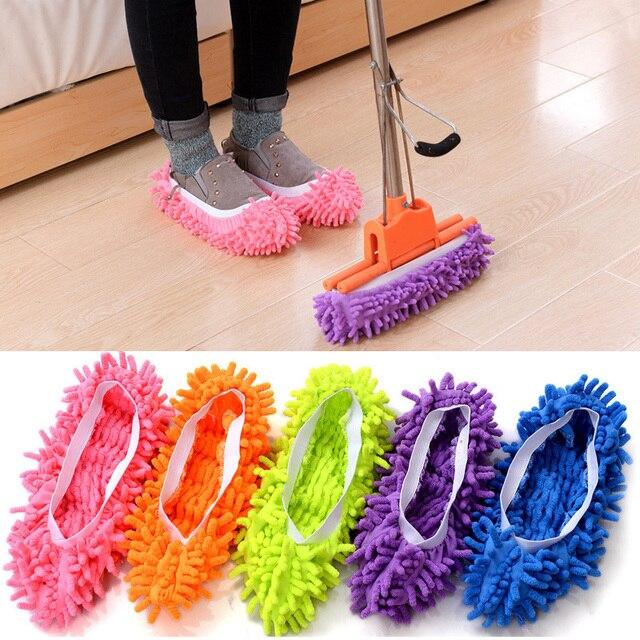 Напольная пыль микрофибры очистки тапочки ленивый обувь крышка Швабра окна очиститель дома ткань для чистки чехол из микрофибры Mophead Overshoes