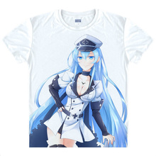 Akame ga Kill T shirts kawaii Japanese Anime t shirt Manga Shirt Cute Cartoon Comic Esdeath