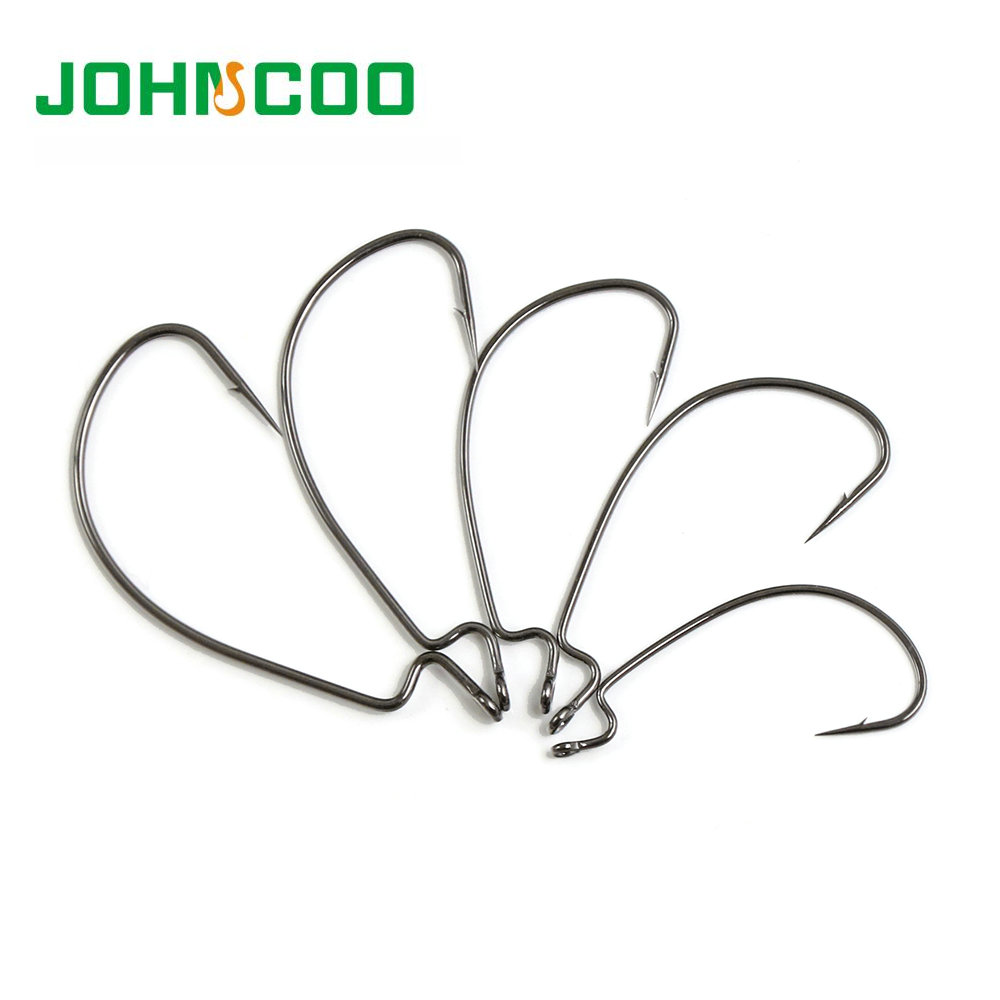 10pcs Carbon Steel Crank Fishing Hook For  Barbed Offset fishhooks Fit for Texas Carolina Florida Rigs Quality same