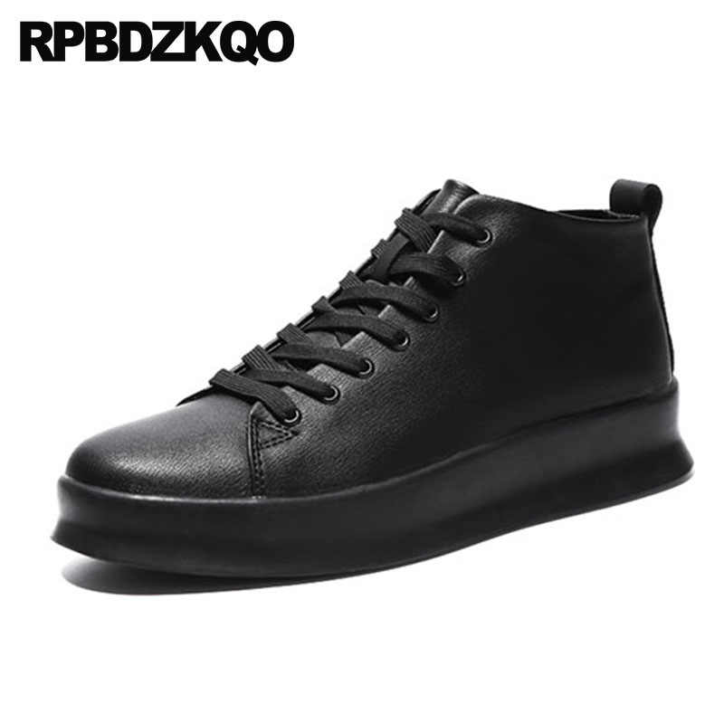 Flats 2018 Casual Black Creepers Skate Platform Shoes Comfort Sneakers Men  Latest Footwear Fashion Trainers Lace ee6695f0f6bb
