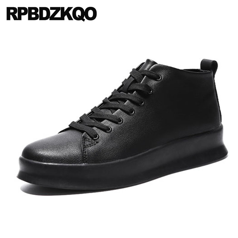 be3988c9d65e Flats 2018 Casual Black Creepers Skate Platform Shoes Comfort Sneakers Men  Latest Footwear Fashion Trainers Lace Up High Top