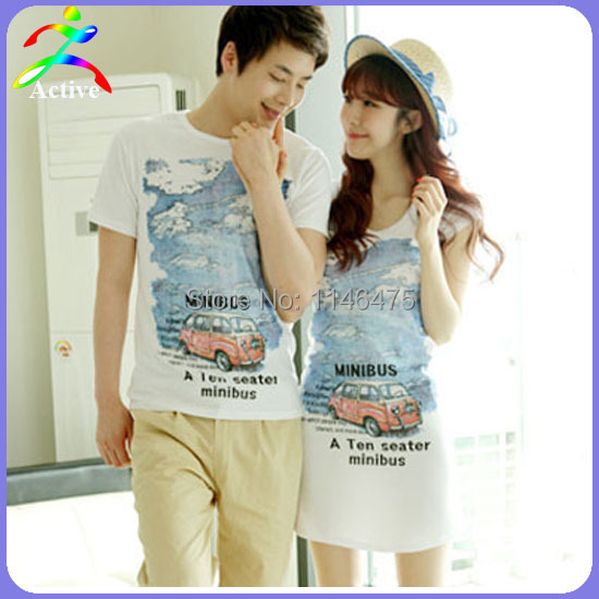 a2ee7825 Hot Selling Fashion Lover Couple Clothes Summer Cool Cute Fresh Slim Long Design  Korean Style T-shirt Couples Shirts and Lovers