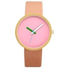 Women Gray Contrast Leather Quartz Watch (6 colors)