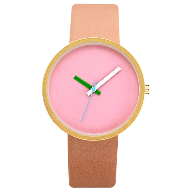 Women Two-Tone Contrast Watch