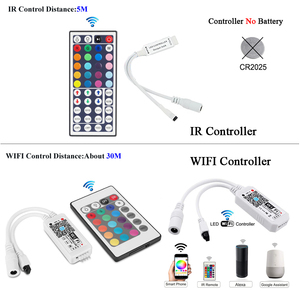Image 2 - IR WIFI LED 스트립 방수 5M 15M 20M RGB Led 스트립 빛 5050 RGB 유연한 조명 리본 테이프 컨트롤러 어댑터