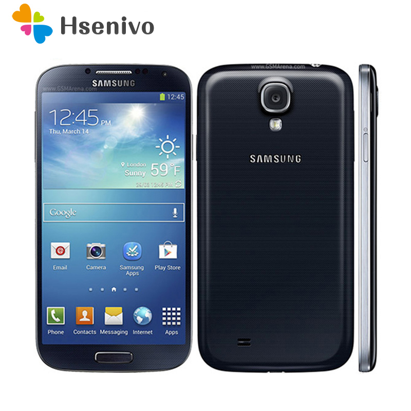 Original Unlocked Samsung Galaxy S4 i9500 i9505 Cell Phone Mobile Phone 3G&4G 5.0 '' 2GB RAM 16GB ROM s4 Smartphone image