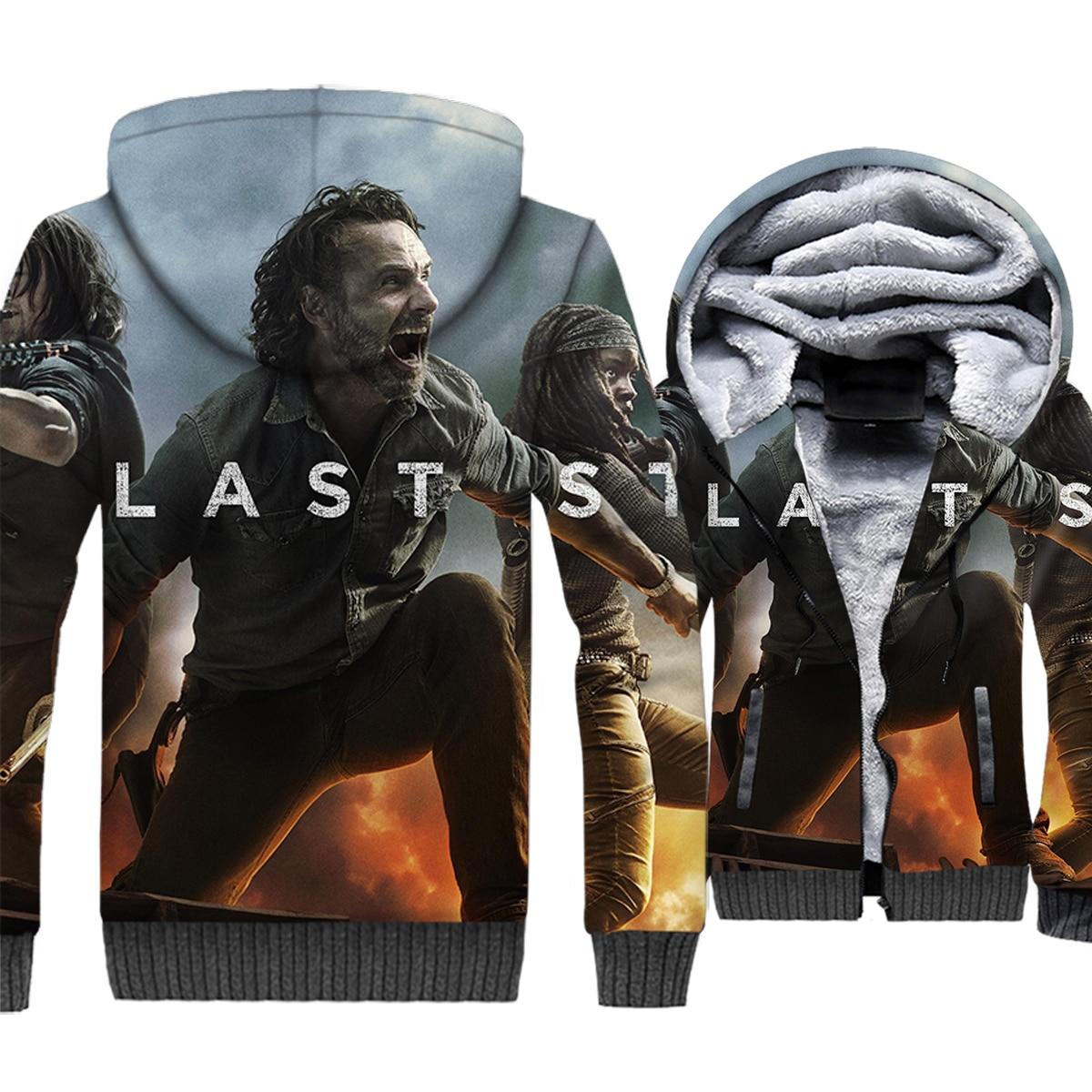 Brand Clothing 2018 Autumn Winter Thick Men 39 s Hoodies Hip Hop Unisex Sweatshirts Harajuku 3D The Walking Dead Movie Jacket Coats in Hoodies amp Sweatshirts from Men 39 s Clothing