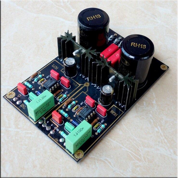 Собранные двойной звукоснимателя проигрывателя виниловых дисков предусилителя подвижным магнитом мм LP предусилитель доска