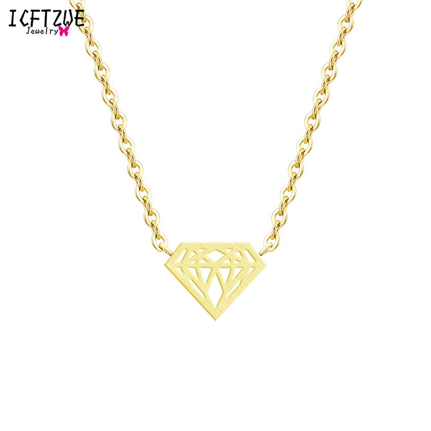 Body Jewelry Stainless Steel Kolye Geometric Chokers Cone Triangle Necklace Pendant For Women <font><b>Ketting</b></font> Zilver <font><b>BFF</b></font> Wedding Gift image