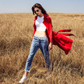Cool! New Brand high quality autumn winter big yards women fashion casual loose long clothes red coat Female overcoat strench