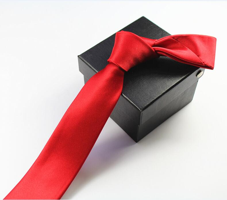 RBOCOTT Solid Skinny Tie Mens Slim Tie Vrijetijdskleding Voor Mannen - Kledingaccessoires - Foto 2