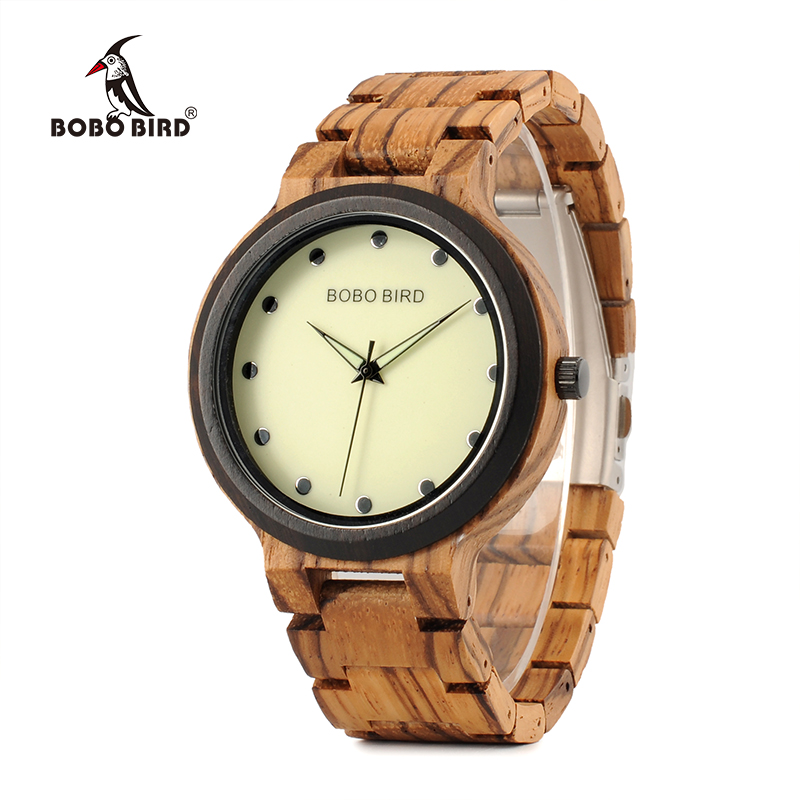 BOBO BIRD PO4 Lightweight Wooden Watches Unique Luminous Dial Mens Watch With Luminous Hands in Gift BoxBOBO BIRD PO4 Lightweight Wooden Watches Unique Luminous Dial Mens Watch With Luminous Hands in Gift Box