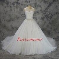 Vestido de Noiva nowy koronki suknia balowa suknia ślubna Królewski pociąg suknia ślubna custom made fabryka bezpośrednio cena hurtowa