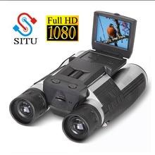 """Новая цифровая камера Full HD 1080P 2,"""" lcd 12x32 HD черный бинокль телескоп складной со встроенной цифровой камерой"""