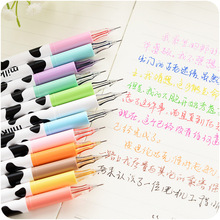 Buy 12 pcs/Lot Milky new color pens 0.38mm liner Gel pen Drawing Stationery office accessories school supplies Canetas escolar FB257 directly from merchant!