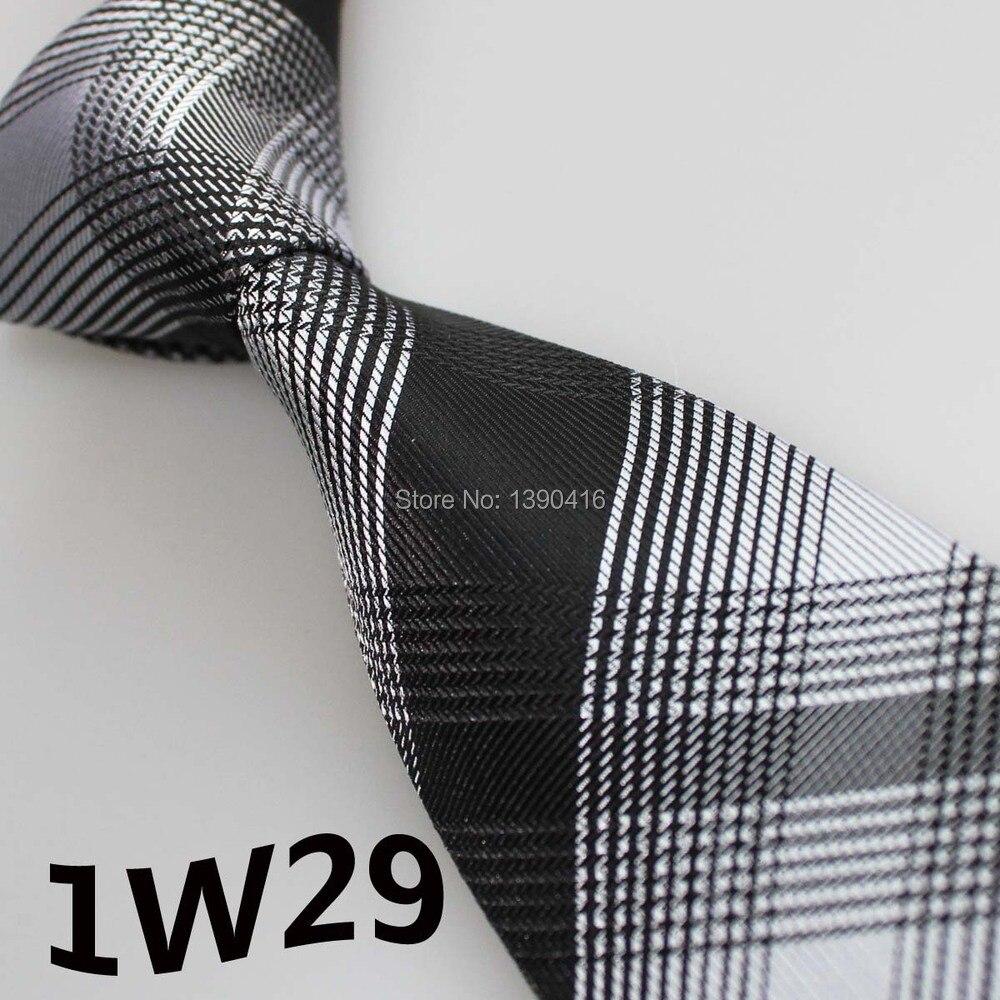 2015 Latest Style Unique Men's Ties Silver/Black Grid Striped Design/Vestido De Festa/Wedding/Acessorios Masculinos/Casual Dress