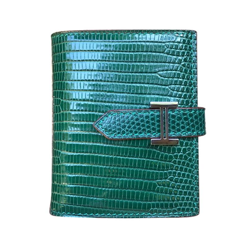 럭셔리 도마뱀 가죽 여성 지갑 짧은 지퍼 숙녀 동전 지갑 여성 카드 홀더 케이스-에서지갑부터 수화물 & 가방 의  그룹 1