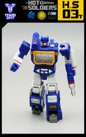 Transformation Soundtrack Intelligence Officer ABS Action Figure Mech Planet Hot Soldiers HS03T Mini Toy For Children Gifts