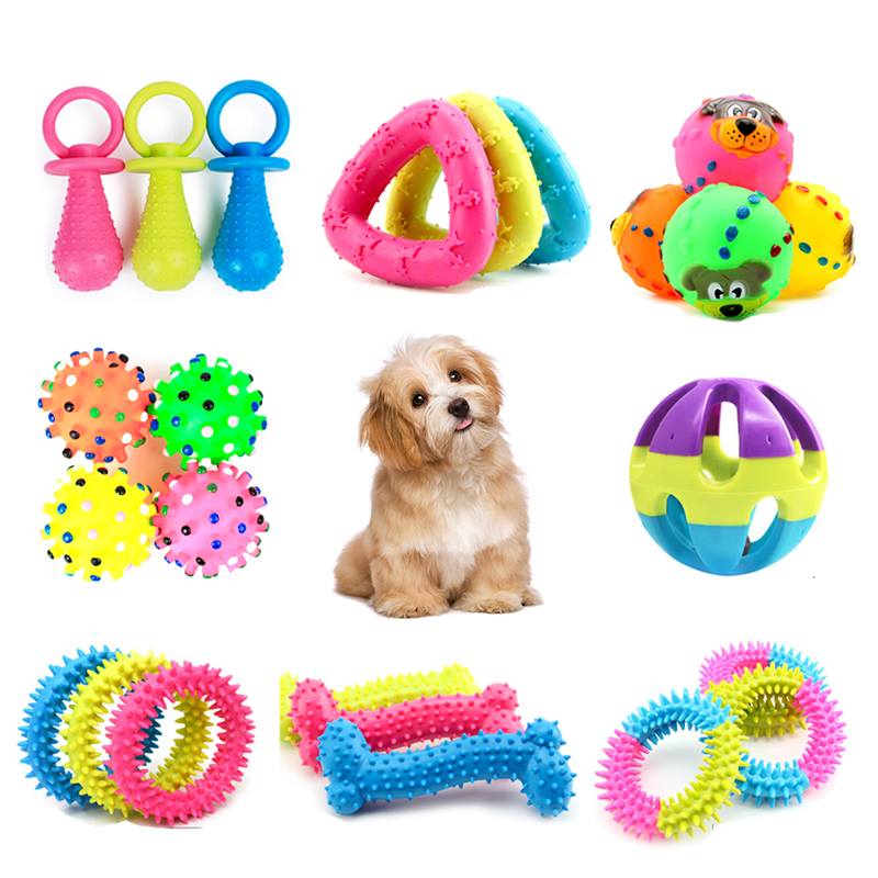Pet Dog Toys Puppy Funny Interactive Chew Toys For Small  Dog Resistant To Bite Teeth Training Rubber Pet Dog Toys Pet Supplies