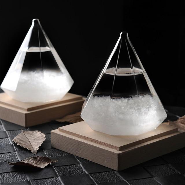 Diamond Glass Storm Weather Forecast Bottle Creative Unique DIY