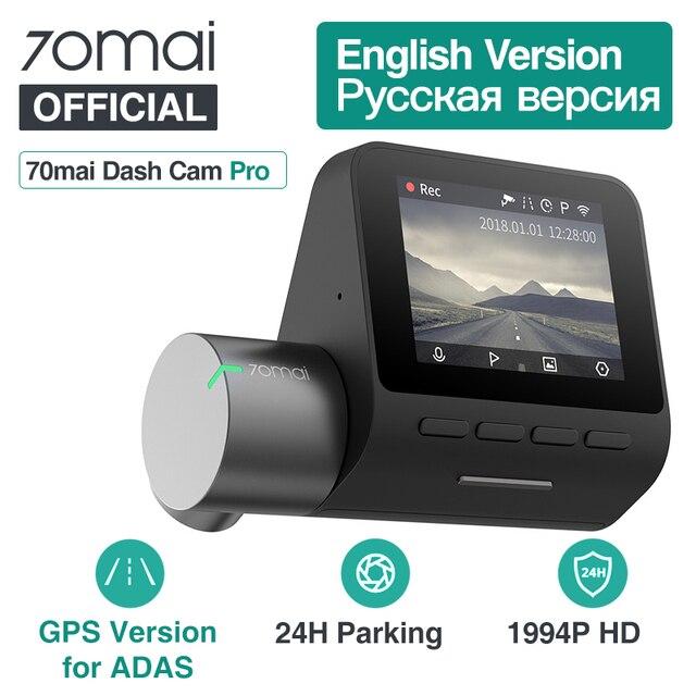 70mai Dash Cam Pro 1944P GPS ADAS Function 70 mai pro Cam English Voice Control 24H Parking Monitor 140FOV Night Vision Wifi Cam