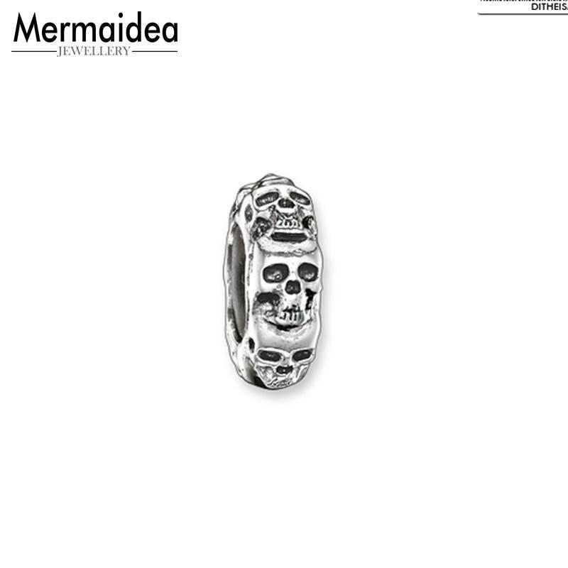 DIY Beads Stopper Skulls 2019 Fashion 925 Sterling Silver Jewelry Punk Gift For Women Men Boy Girl Fit Bracelets Necklace