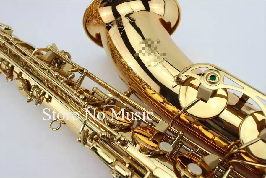 Mark VI Tenor Bb B-flat Saxophone High Quality Instrument Dedicated Brass Gold Lacquer Surface Sax With Case Mouthpiece free shipping jazzor professional cornet jzht 300 b flat gold lacquer bb trumpet corneta with hard case brass musical instrument