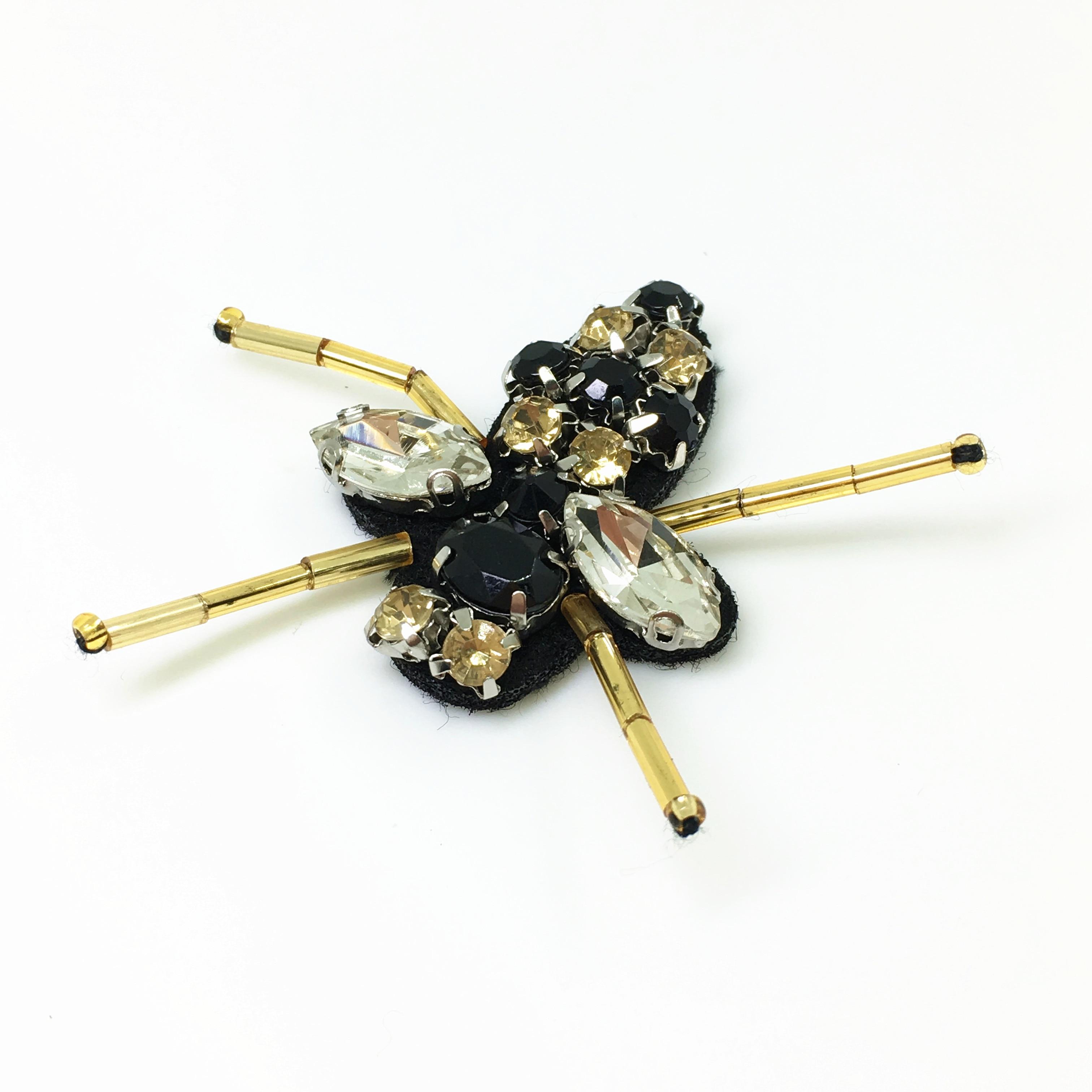 20pc Sy på Beaded Patch Crystal Bee Applique Patches För Klädskor - Konst, hantverk och sömnad - Foto 4