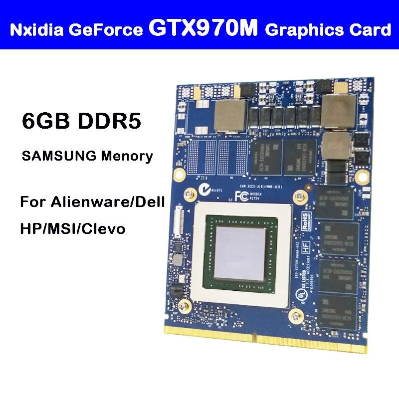 Nouvelle carte graphique d'origine GTX 970M GTX970M N16E-GT-A1 6GB GDDR5 MXM pour Dell Alienware MSI HP