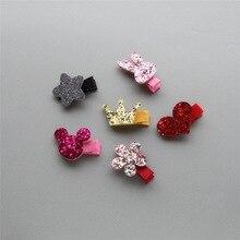 20pcs/set Cute Children Hair Clip Accessories Headwear Baby Ribbon Bow Kids Girls Hairpins Full Cover Clips