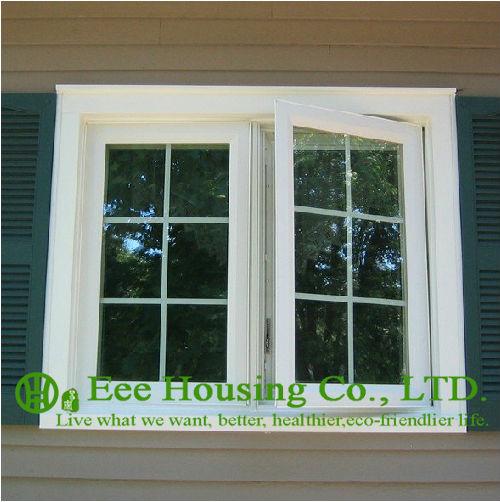 Aluminium Outward Open Window Manufacturer / Aluminum Casement Window For Bedroom / Grilled Design Casement Windows