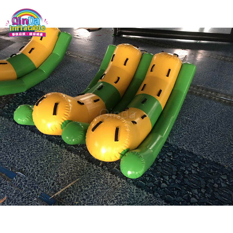 Hot selling inflatable double teeter totter for water park gamesHot selling inflatable double teeter totter for water park games
